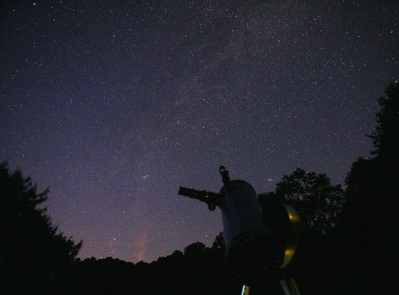 Noc pod gwiazdami w Bieszczadach [ZDJĘCIA]