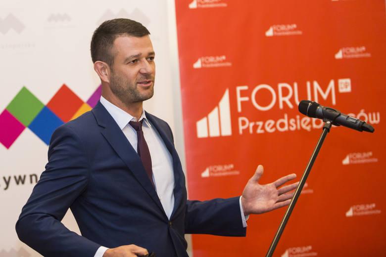 Grzegorz Błażewicz podczas Forum Przedsiębiorców Małopolski