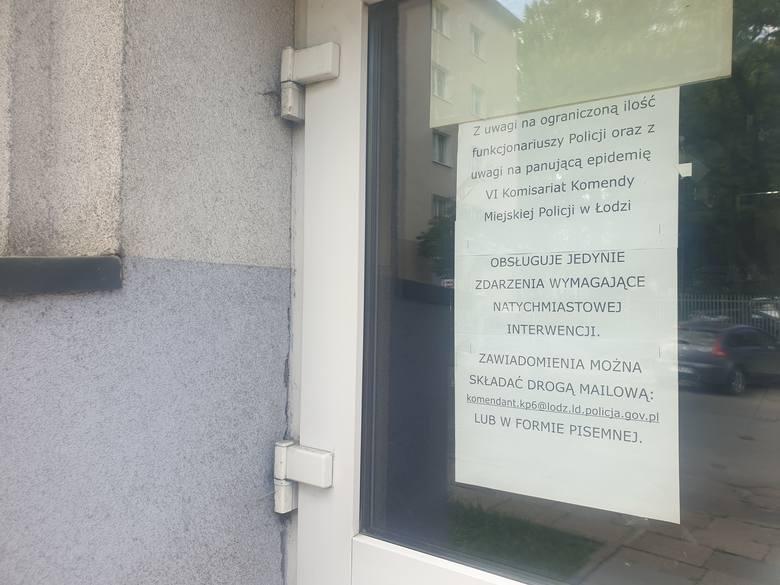 VI Komisariat KMP w Łodzi znów czynny - ponad 30 policjantów na kwarantannie