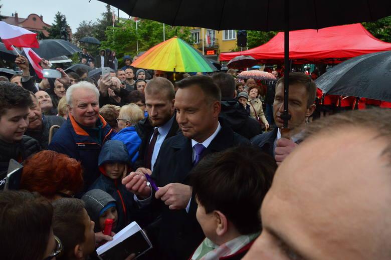 Prezydent RP Andrzej Duda odwiedził Myślenice [ZDJĘCIA, WIDEO]