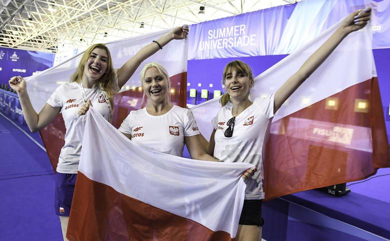 Drużyna polskich strzelczyń zdobyła złoty medal uniwersjady w Neapolu w konkurencji karabin pneumatyczny 10 metrów