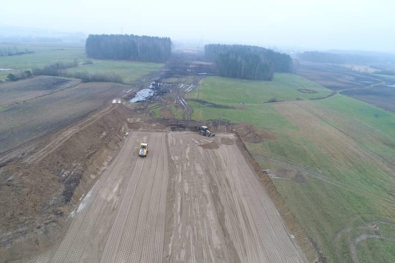 Postęp prac na drodze S6 Słupsk - Gdańsk. Zobacz nowe zdjęcia