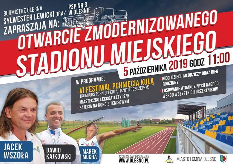 Stadion miejski w Oleśnie jest już po rewitalizacji.