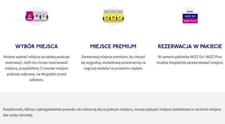 Wizz Air wprowadza dodatkową opłatę dla pasażerów, którzy zajmują dwa miejsca w samolocie