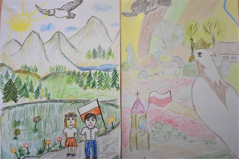 """Dzieci nadsyłały swoje prace na przegląd rysunkowy """"Biały Orle Nasz"""""""