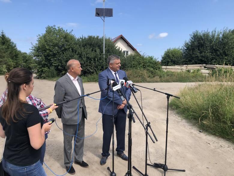 W środę o tej inwestycji mówili, na specjalnej plenerowej konferencji, prezydent Koszalina Piotr Jedliński oraz przewodniczący Rady Miejskiej Jan Ku