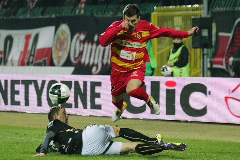 Maciej Makuszewski strzelił jedyną bramkę w meczu z Polonią Warszawa