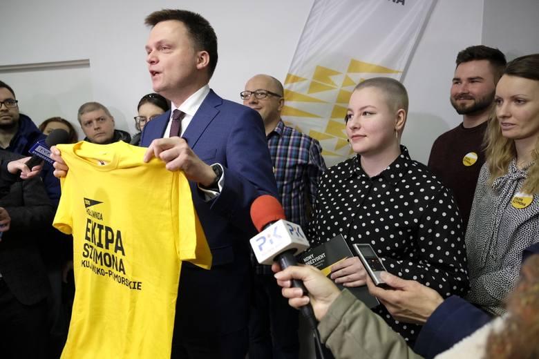 Szymon Hołownia - kandydat na prezydenta Polski w nadchodzących wyborach odwiedził dziś (21.02) Toruń. - Obecna polityka to serial kryminalny skrzyżowany