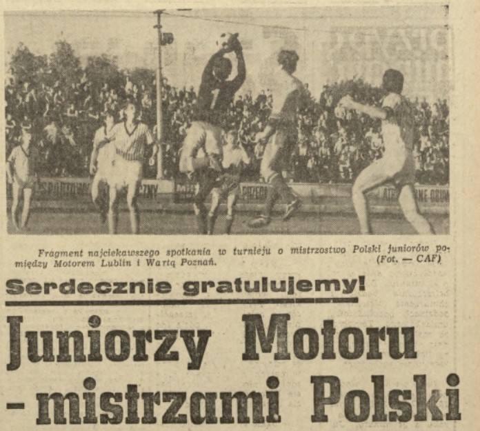 70-lecie Motoru Lublin: Jerzy Krawczyk z lubelskim klubem wywalczył m.in. mistrzostwo Polski juniorów
