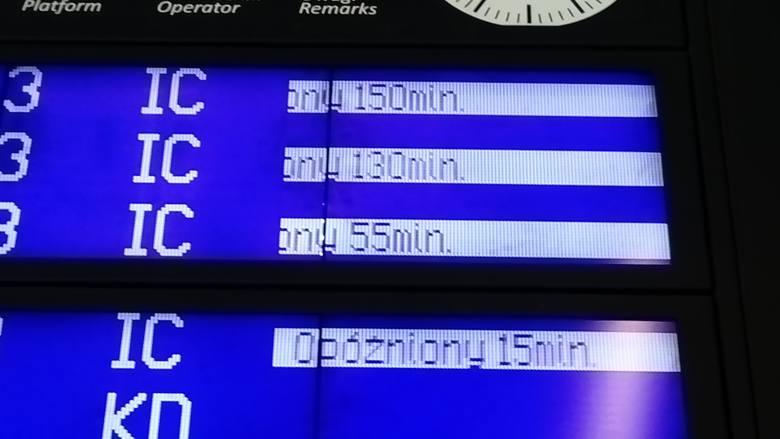 Zerwana trakcja i śmiertelny wypadek. Ciąg dalszy kłopotów na trasie Wrocław - Poznań