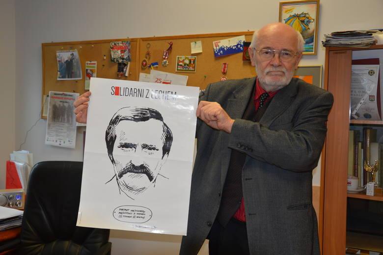 """- Robiłem """"Solidarność"""" z Lechem Wałęsą i jestem z tego dumny - mówi Janusz Wójcik."""
