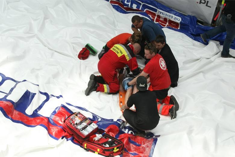 Wypadek podczas skoków w Sky Tower