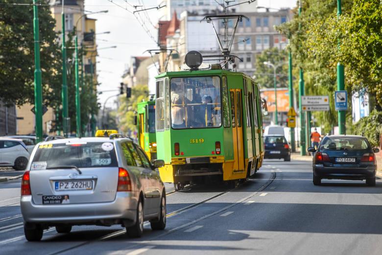 Wydzielenie torowiska ma spowodować, że tramwaje nie będą juz stały w korkach na ul. Grunwaldzkiej