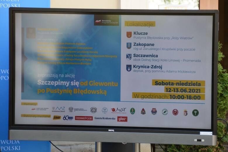 Kraków. W weekend małopolska akcja szczepień od Giewontu po Pustynię Błędowską