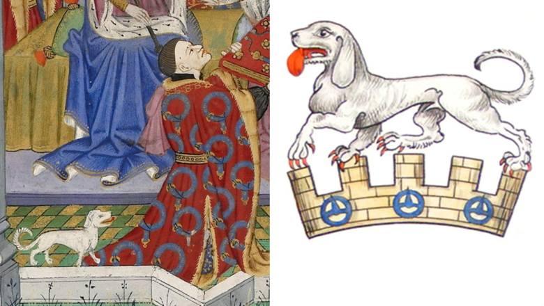 Talbot był psem myśliwskim, popularnym w średniowiecznej Europie (zwłaszcza Anglii). Było to niewielkie zwierzę, o krótkich, ale silnych łapach, długich