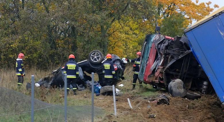 20 października na obwodnicy Chojnic zginął kierujący samochodem osobowym<br />