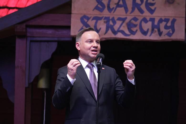 Andrzej Duda zagrzmiał podczas górniczej karczmy piwnej...