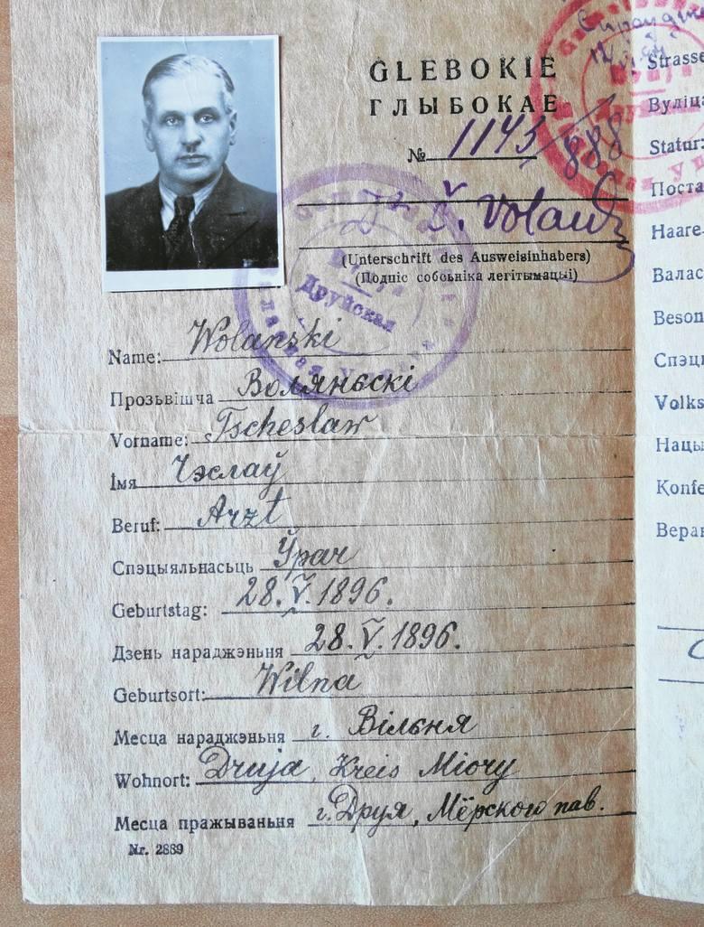Ausweis wydany w  Drui 4 maja 1943 roku jest dwujęzyczny.