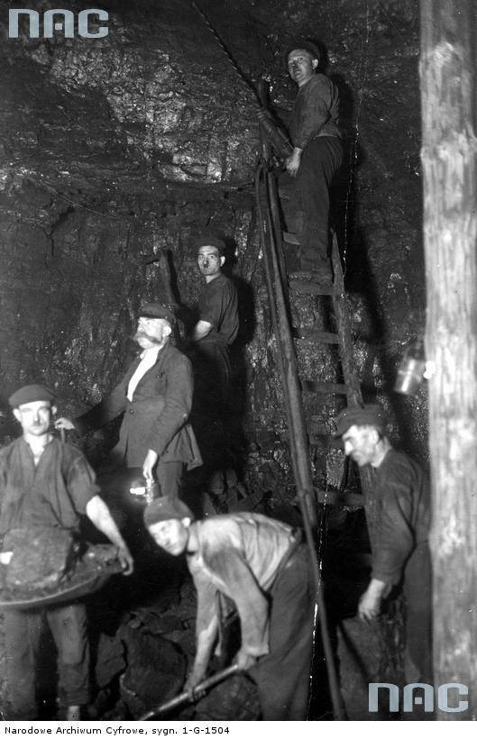 Górnicy przy pracy