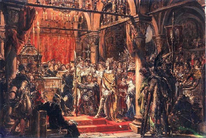 Biesiady u ChrobregoBiesiady zwykle związane były ze świętami, uroczystościami rodzinnymi lub przyjmowaniem darzonych szacunkiem gości. Najwcześniejszym