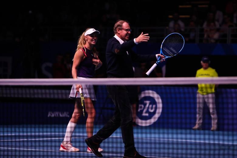 Wojciech Fibak i Caroline Wozniacki