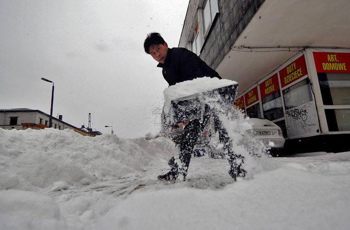 [zdjęcia] Bydgoszcz walczy z zimą