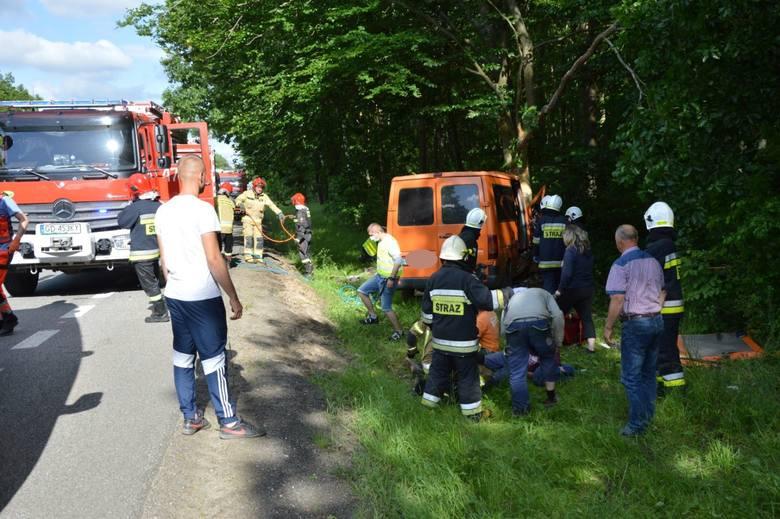 Wypadek w Lęborku 23.06.2020 na drodze krajowej nr 6