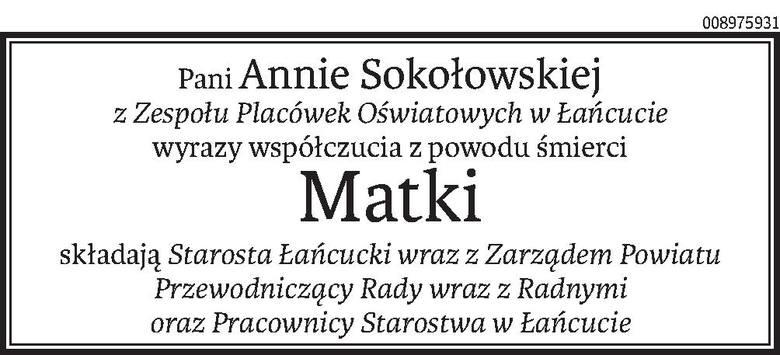 Nekrologi i kondolencje z dnia 21 marca 2019 roku