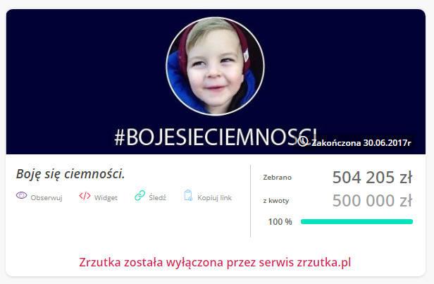 "Prokuratura bada sprawę zbiórki na ""chorego"" Antosia"