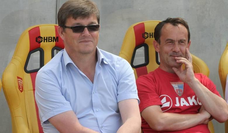 Bohdan Bławacki (z lewej) wraca na trenerską ławkę w Puławach