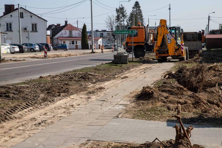 Rozbudowa dk65 w Mońkach już się rozpoczęła
