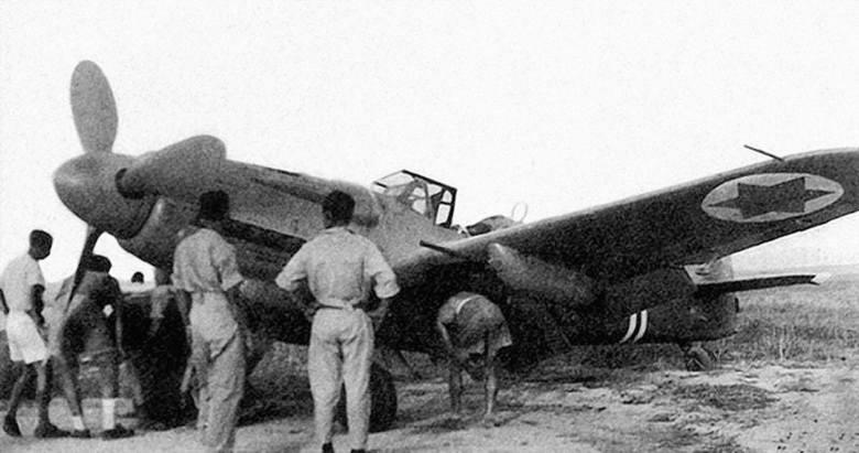 Samolot Supermarine Spitfire w barwach izraelskich sił powietrznych. 61 sztuk tych maszyn udało im się kupić w Czechosłowacji