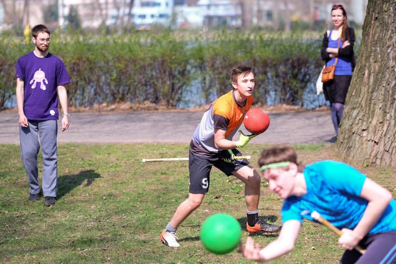 Trening poznańskiej drużyny quidditcha