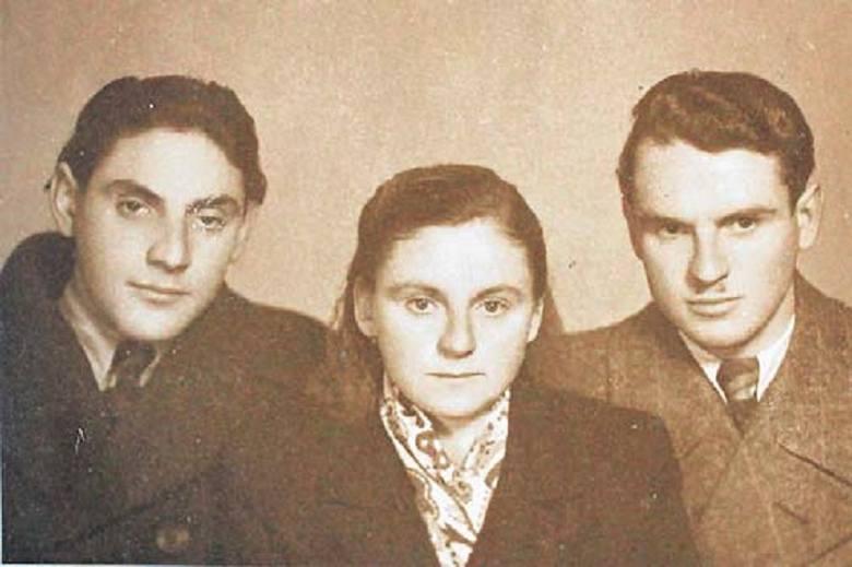 Rok 1943. Helena Gotfryd, Poldek Kwiatkowski i Janina Procek.