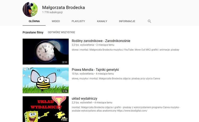 Małgorzata Brodecka Youtuberka, nauczycielka biologii z 17 Liceum Ogólnokształcącego w Gdyni. Jej piosenki biologiczne podbijają sieć. Uczniowie je kochają.