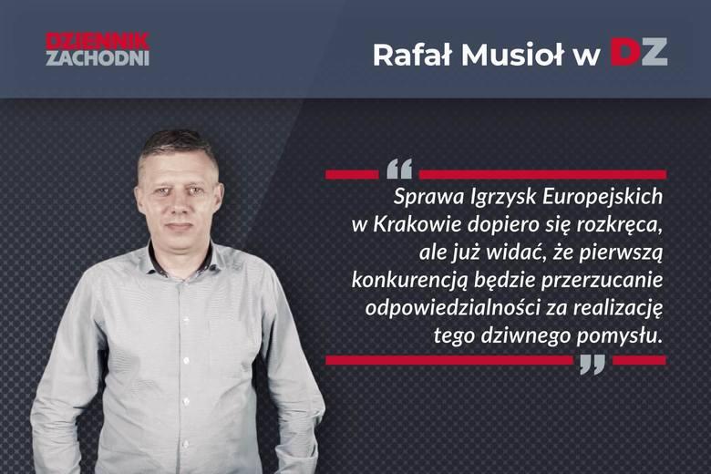 Rafał Musioł: Warszawa urządza sobie igrzyska w Krakowie [KOMENTARZ]