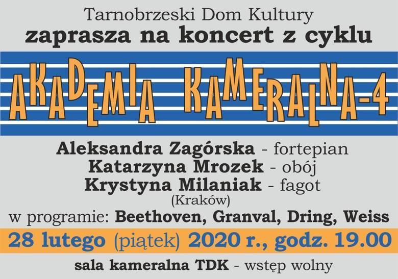 """Czwarty koncert """"Akademii Kameralnej"""". W Tarnobrzeskim Domu Kultury wystąpi krakowskie trio"""