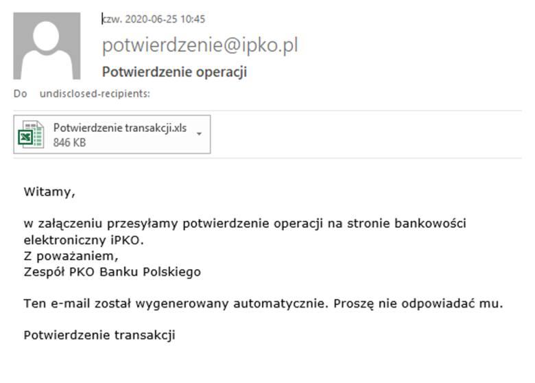 Klienci PKO BP znów zagrożeni. Uwaga na fałszywe maile, trudno je odróżnić od tych prawdziwych!