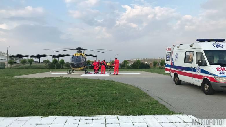 Wypadek na stadionie Kolejarza Opole.
