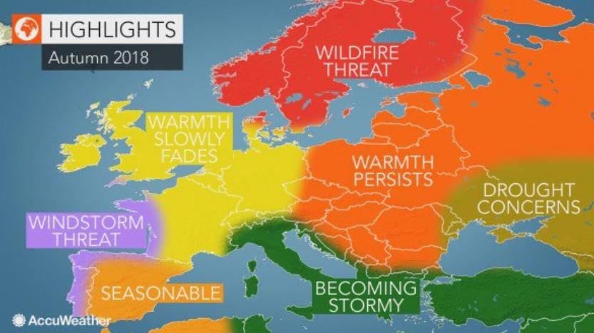Pogoda na jesień 2018 w Polsce według AccuWeather