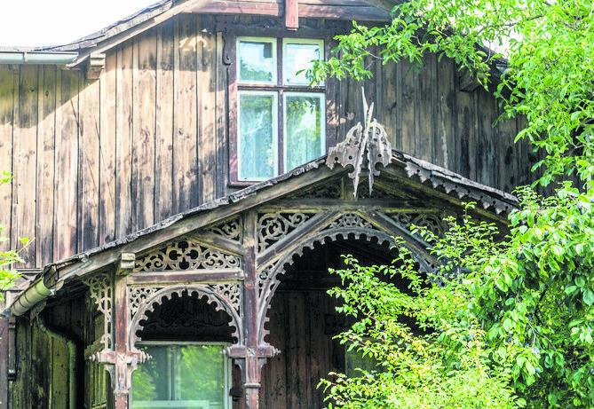 Drewniany dom przy ulicy Grudziądzkiej 35