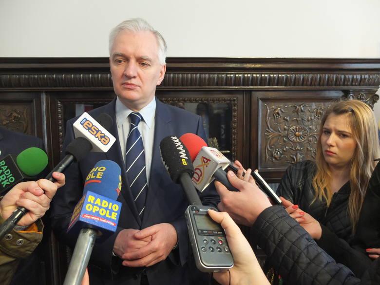 Jarosław Gowin w opolskim ratuszu.