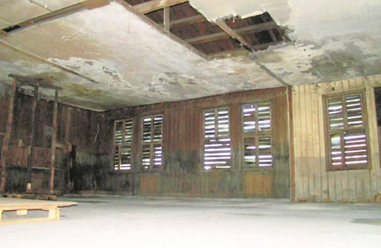 W złym stanie jest także część kuchenna obiektu. W czasie wojny stało tutaj osiem wielkich kotłów. Kuchnia robiła 1500 obiadów dziennie