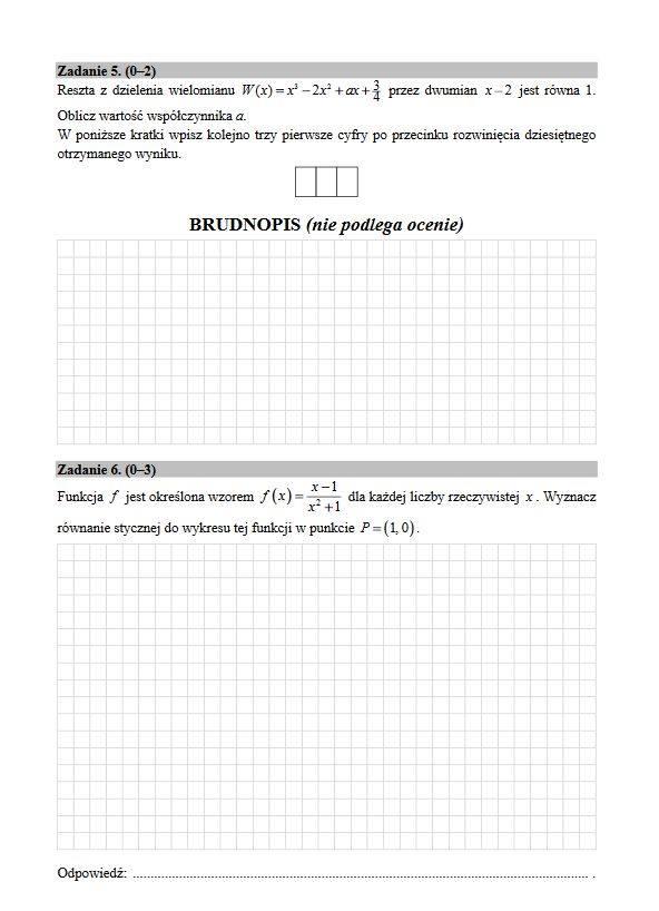 matura z matematyki rozszerzona 2019 arkusz