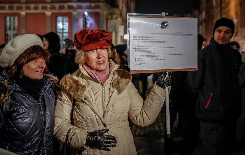 Gdański protest przeciwko masowemu odstrzałowi dzików, 10.01.2019