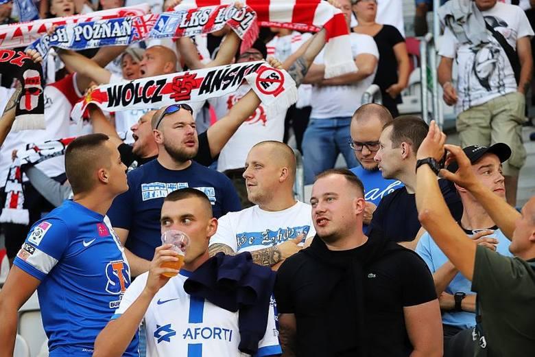 Kibice na meczu ekstraklasy ŁKS - Lech Poznań! ZDJĘCIA