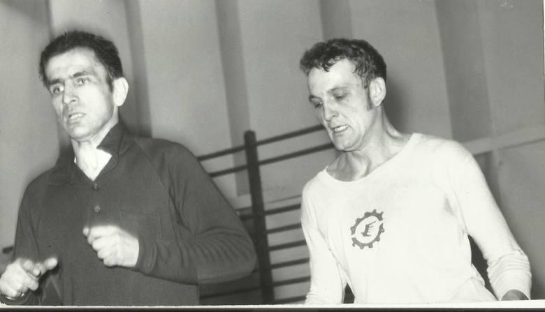 Stal w latach 70-tych miała świetnych bramkarzy. Zygmunt Kukla (z prawej) rywalizował ze Stanisławem Majcherem