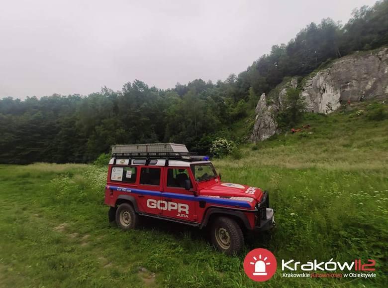 Turysta spadł ze skały w Dolinie Kobylańskiej