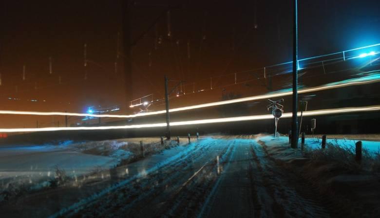 Pociąg widmo w Oleśnie - niesamowite zdjęcie Dariusza Domagały