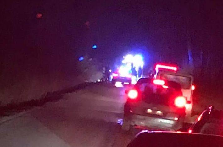Śmiertelny wypadek na drodze do Olmont. Potrącony mężczyzna zmarł na miejscu. Droga zablokowana [ZDJĘCIA]